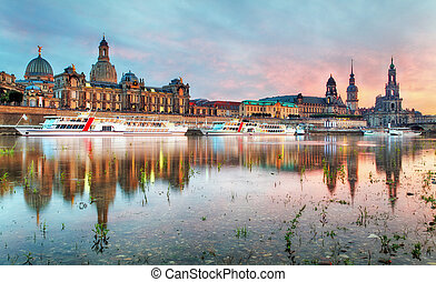 The old town of Dresden with the Hofkirche
