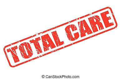 Total care red stamp text on white