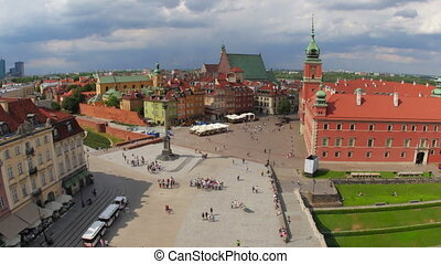 quot;warsaw old town square, poland, timelapse, zoom out,...