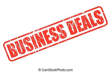 BUSINESS DEALS red stamp text on white