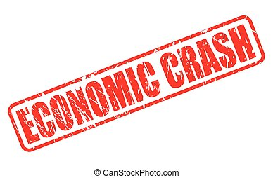 ECONOMIC CRASH red stamp text on white
