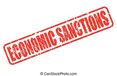 ECONOMIC SANCTIONS red stamp text on white