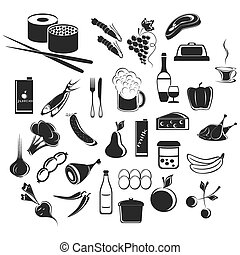Icons food and beverages