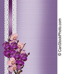 Orchids on satin and lace - Beautiful orchids and lace...