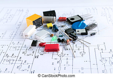 Spare parts of electronic devices.