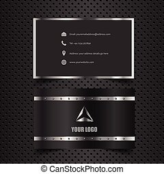 Business card mock up with metallic design