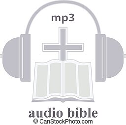 Audio Bible Icon - Icon of audio the Bible A religious trade...