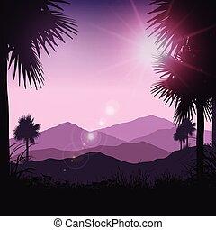 tropical landscape 2701