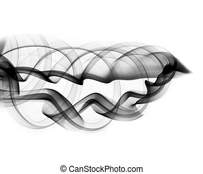Abstract fume shape on the white