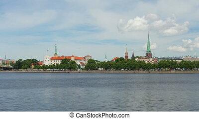 """""""Riga city view, timelapse, zoom in, 4k"""""""