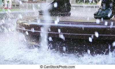 River fountain stream - Motion video fountains streams...