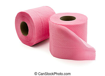Pink toilet paper - Pair of rolls  pink toilet paper