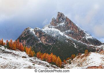 Mount Sass de Stria, Falzarego path, Dolomites - Mount Sass...