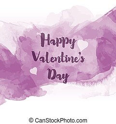Watercolour Valentines Day background 0601 - Decorative...