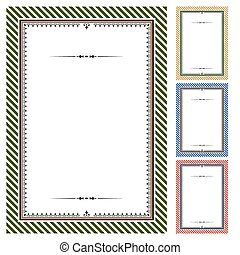 Set of vector certificates - Classical frames for diploma or...