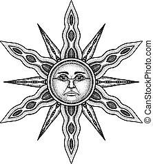 Alchemy Symbol of Sun - Vector Illustration Stylized as...