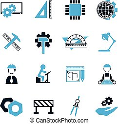 Engineering icons set - Engineering simply icons for web and...