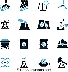 Fuel and Power Generation Icons - Fuel and Power simply...