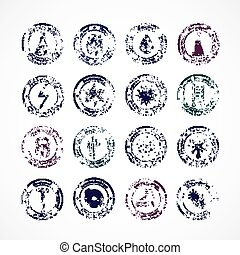 Protection Proof Round Stamps - Protection proof round...