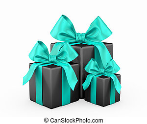 gift christmas box 3d render