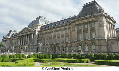 quot;royal palace of brussels, belgium, timelapse, zoom in,...
