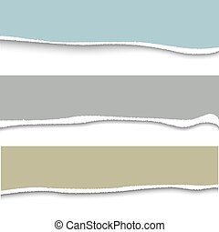 Vector torn paper. Set of three banner torn paper for ypur...