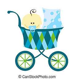baby boy - sweet baby boy in carriage