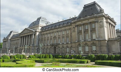 quot;royal palace of brussels, belgium, timelapse, 4kquot; -...