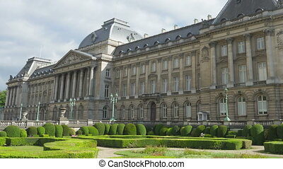 quot;royal palace of brussels, belgium, timelapse, zoom out,...