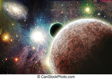 planetas, espaço