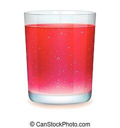 Red realistic cocktail - Red realistic cocktail on a white...