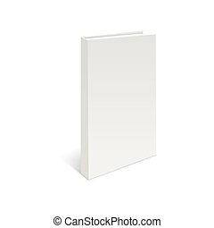Blank book cover on a white background