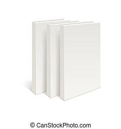 Stack of three blank books