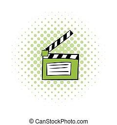 Movie clapper comics icon