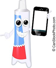 Illustration of Smiling Toothpaste