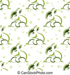 easter rabbit seamless pattern