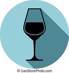 Sophisticated wine goblet, stylish alcohol theme...