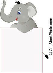 Elephant and banner