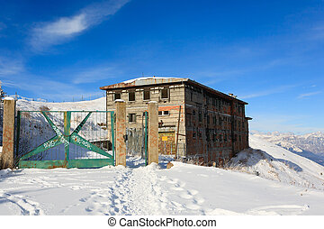 """Abandoned military barracks from """"Monte Grappa"""",Italy."""