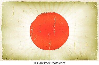 Vintage Japan Flag Poster Background
