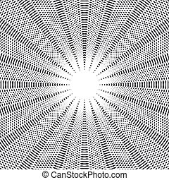 Abstract lined background, optical illusion style. Chaotic...