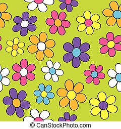 Seamless Flower Power - A seamless pattern of groovy flowers...
