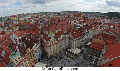 quot;prague, old town square, czech republic, timelapse,...