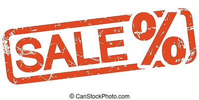 red stamp SALE - red grunge stamp with frame, percentage...