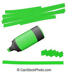 highlighter with markings - green colored high lighter with...