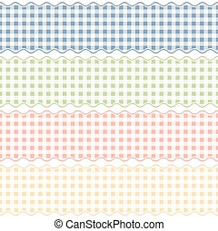 seamless checkered banners - collection of four different...