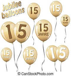 jubilee balloons - golden jubilee balloons for 15 years in...