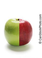 Hybrid Apple on Isolated White Background