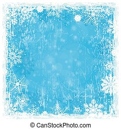 blue grunge christmas background - blue abstract background...