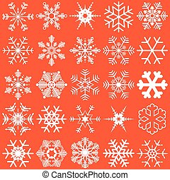 snow flakes collection - collection of different detailed...